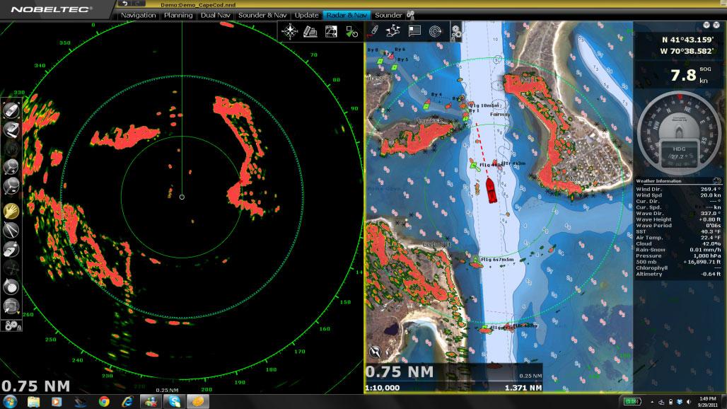 Nobeltec Furuno Pc Radar Navigation Solution Nobeltec